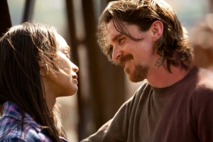 "Kerry Hayes/Relativity Media Zoe Saldana and Christian Bale star in Relativity Media's ""Out of the Furnace."""
