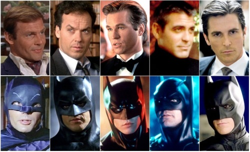 Batman movie actors collage by Nerds on The Rocks