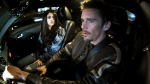 Warner Bros. Pictures The Kid (Selene Gomez) and Brent (Ethan Hawke) inside the Mustang.
