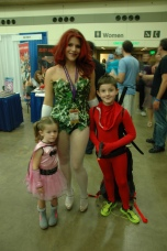 Baltimore Comic Con 2013 - Hot Poison Ivy and cute kids
