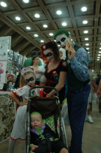 Baltimore Comic Con 2013 - Joker and Harley family - the best one