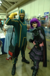 Baltimore Comic Con 2013 - Kick-Ass and Hit Girl
