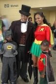 Baltimore Comic Con 2013 - Penguin, Robin, Batman and Robin
