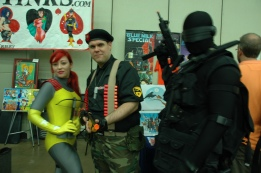 Baltimore Comic Con 2013 - Scarlett, Flint and Snake-Eyes