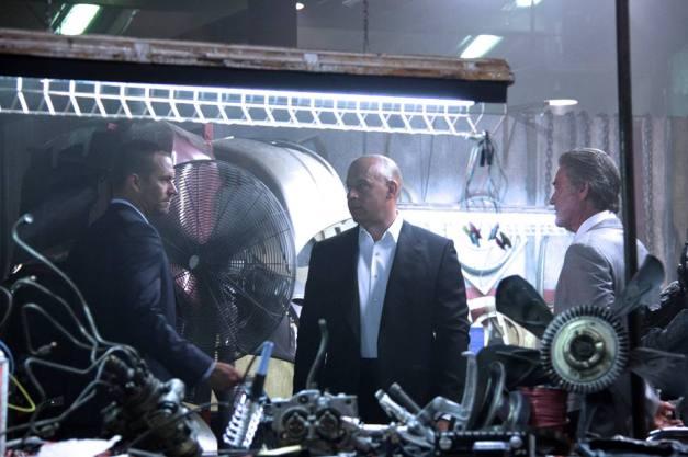 Fast and Furious 7 Paul Walker, Vin Diesel and Kurt Russell