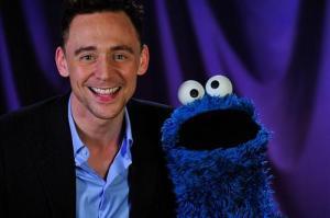 Loki Tom Hiddleston and Cookie Monster