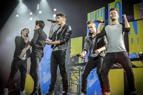 "Christie Goodwin/TriStar Pictures [From left] Niall Horan, Zayn Malik, Harry Styles, Liam Payne and Louis Tomlinsonin TriStar Pictures' ""One Direction: This Is Us."""