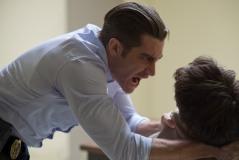 Wilson Webb/Warner Bros. Pictures Detective Loki (Jake Gyllenhaal) interrogates Bob Taylor (David Dastmalchian).