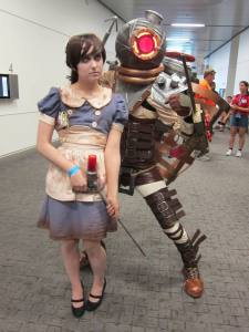 Sumner Bukoski and Heather Hodges as Bioshock Little Sister and Big Sister