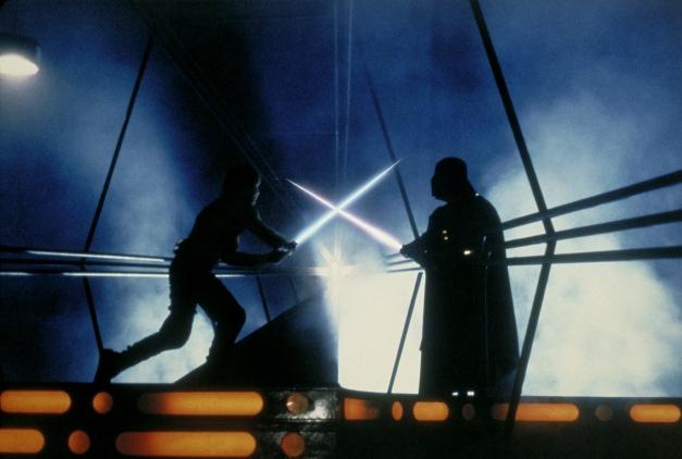 The Empire Strikes Back - Luke Skywalker vs Darth Vader lightsaber duel in Cloud City
