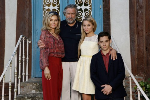 "Jessica Forde/Relativity Media Michelle Pfeiffer, Robert DeNiro, Dianna Agron and John D'Leo star in Relativity Media's ""THE FAMILY."""
