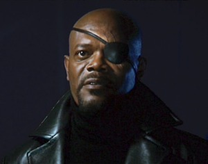 samuel l jackson as nick fury in iron man