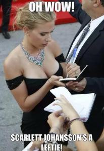 Scarlett Johansson autographing
