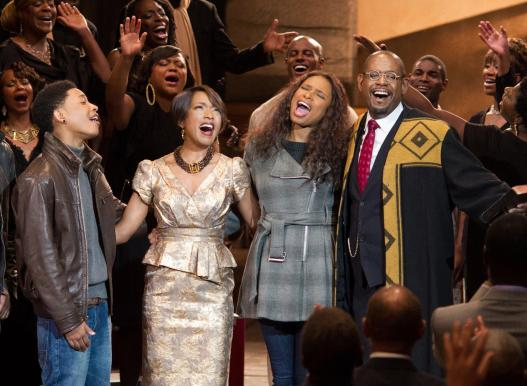 "Jacob Latimore, Angela Bassett, Jennifer Hudson and Forest Whitaker star in ""Black Nativity."""
