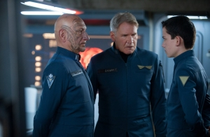 "Richard Foreman Jr., SMPSP/Summit Entertainment BEN KINGSLEY, HARRISON FORD and ASA BUTTERFIELD star in ""ENDER'S GAME."""