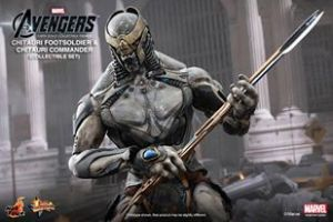 Hot Toys Chitauri Footsoldier and Chitauri Commander with staff