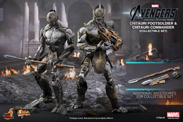 Hot Toys Chitauri Footsoldier and Chitauri Commander