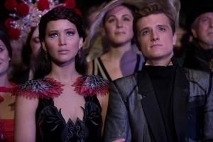 Murray Close/Lionsgate Publicity Katniss Everdeen (Jennifer Lawrence) and Peeta Mellark (Josh Hutcherson).