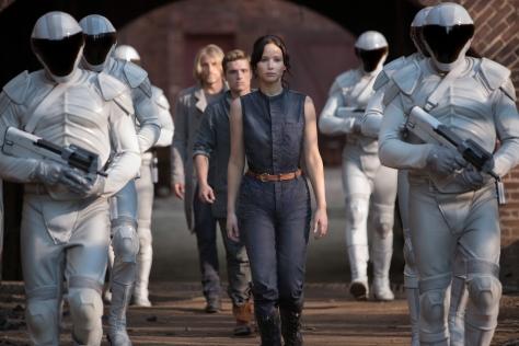 Murray Close/Lionsgate Publicity Haymitch Abernathy (Woody Harrelson), Peeta Mellark (Josh Hutcherson) and Katniss Everdeen (Jennifer Lawrence)
