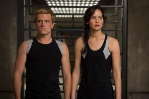 "Murray Close/Lionsgate Publicity Katniss Everdeen (Jennifer Lawrence) and Peeta Mellark (Josh Hutcherson) in ""The Hunger Games: Catching Fire."""