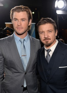 Alberto E. Rodriguez/WireImage Chris Hemsworth and Jeremy Renner