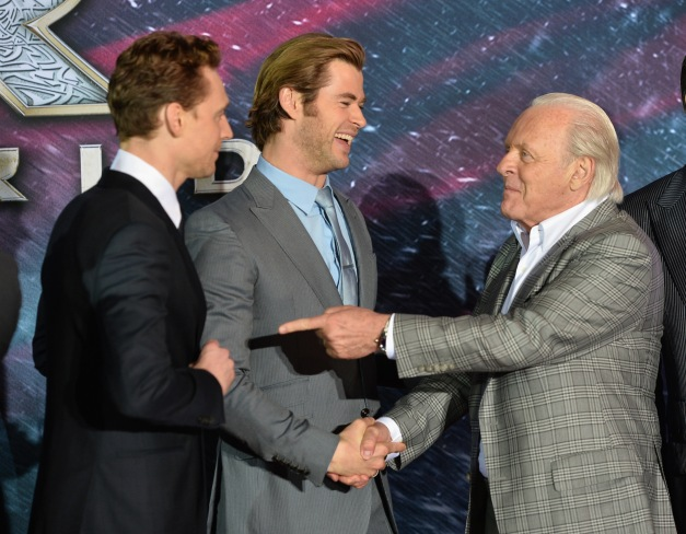 "Alberto E. Rodriguez/WireImage Tom Hiddleston, Chris Hemsworth and Anthony Hopkins attends Marvel's ""Thor: The Dark World"" Premiere at the El Capitan Theatre on Nov. 4 in Hollywood, California."