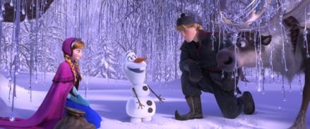 "Disney Anna, Olaf, Kristoff and Sven in ""Frozen."""