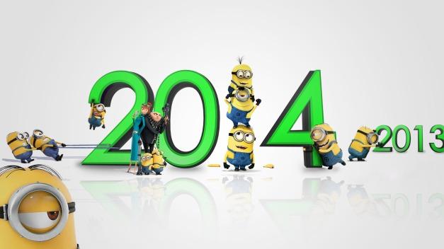 Happy New Year 2014 minions