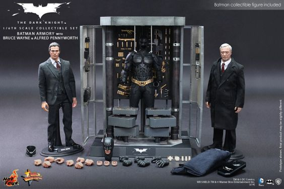 Hot Toys The Dark Knight Batman Armory - Bruce Wayne and Alfred