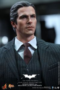 Hot Toys The Dark Knight Batman Armory - Bruce Wayne side shot
