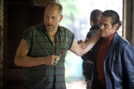 Kerry Hayes/Relativity Media Harlan (Woody Harrelson) and John (Willem Dafoe)