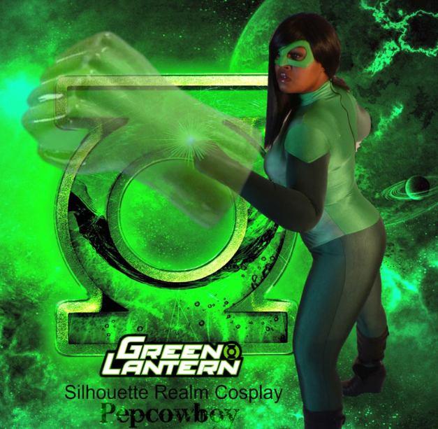 Silhouette Realm as Green Lantern