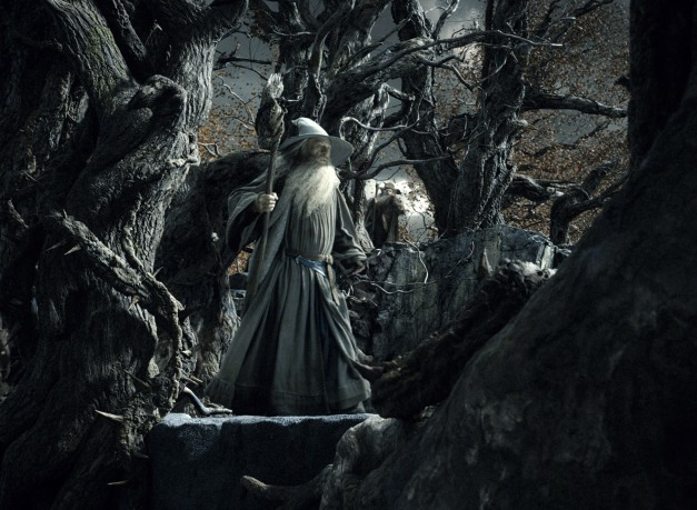 Courtesy Warner Bros. Pictures IAN McKELLEN as Gandalf and SYLVESTER McCOY as Radagast