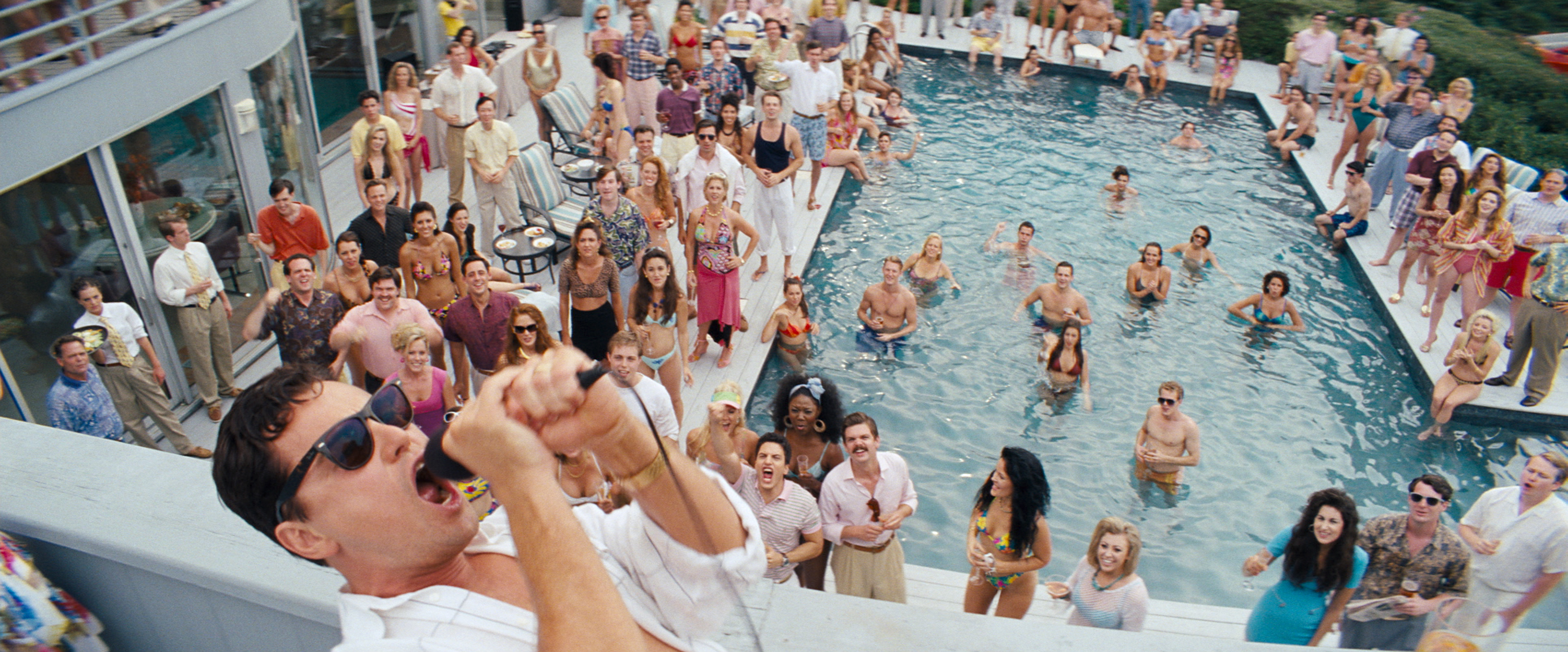 Leonardo dicaprio is jordan belfort in the wolf of wall street