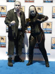 Cosplay Confidential Ben Esguerra as Solomon Grundy with Lady Pinhead