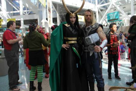 Katieasaur Cosplay as Loki with Thor
