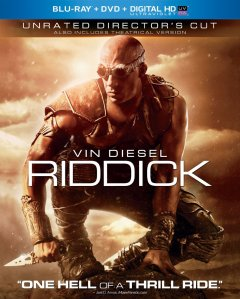 Riddick blu ray cover
