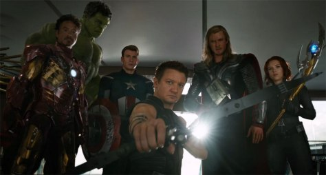 The Avengers - Iron Man Robert Downey Jr, Captain America Chris Evans, Thor Chris Hemsworth, Jeremy Renner Hawkeye, Black Widow Scarlett Johansson