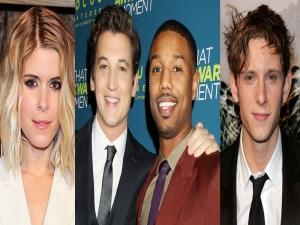 Fantastic Four cast - Kate Mara, Michael B. Jordan, Miles Teller and Jamie Bell