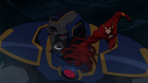 Credit: Warner Bros. Pictures Darkseid battles Flash.