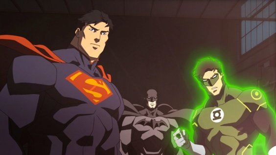 Credit: Warner Bros. Pictures Superman, Batman and Green Lantern prepare for war.