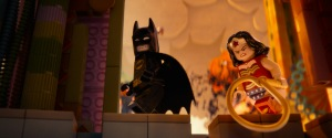 "Courtesy of Warner Bros. Pictures LEGO® minifigures Batman (voiced by Will Arnett) and Wonder Woman (Cobie Smulders) in the 3D computer animated adventure ""The LEGO® Movie."""