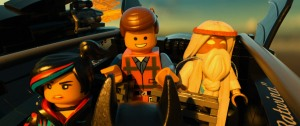 LEGO Movie - Wyldstyle, Emmet and Vitruvius