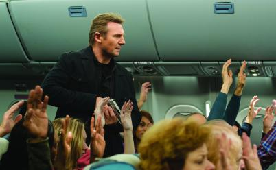 Myles Aronowitz/Universal Studios U.S. Air Marshal Bill Marks (Liam Neeson) receives a series of cryptic text messages demanding that he instruct the airline to transfer $150 million into an off-shore account.