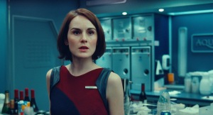 Universal Pictures Michelle Dockery as flight attendant Nancy.