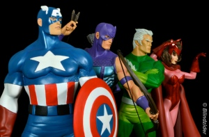 Cap's Kookey Quartet Captain America, Hawkeye, Quicksilver and Scarlett Witch The Avengers