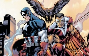 Captain America and Falcon