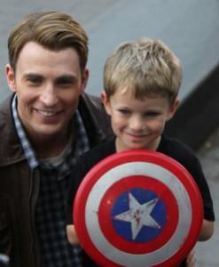 Chris Evans with Captain America fan