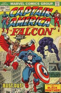Comic Captain America and The Falcon