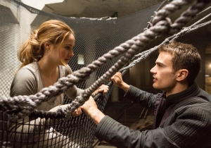 Jaap Buitendijk/Summit Entertainment, LLC. Tris (Shailene Woodley) and Four (Theo James).